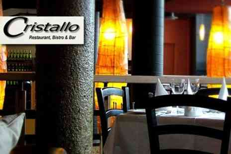 Cristallo Restaurant and Bar - Two Course Meal For Two With Wine - Save 59%