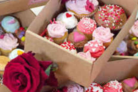 Crumbs and Doilies - Box of Two Large and Nine Mini Cupcakes - Save 33%