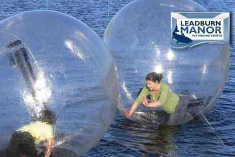Leadburn Manor - Water Zorbing Experience Plus 18 Holes on Kids Putting Green - Save 62%