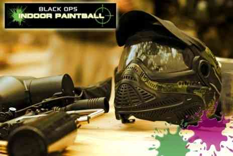 Black Ops Indoor Paintball - Two Hours of Indoor Paintballing with 100 Balls and Refreshments - Save 60%
