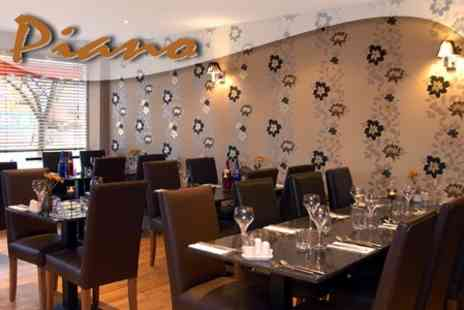 Cafe Piano - Italian Appetiser, Starter and Main Course For Two - Save 58%