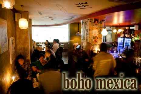 boho mexica - Lunch for two, Choose any 2 appetisers, any 2 main courses - Save 60%