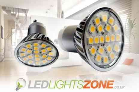 LED Lights Zone - Twelve Energy Saving LED Light Bulbs - Save 80%