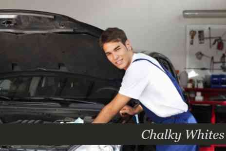 Chalky Whites - 54 Point Car Service With Oil, Pollen Filter and Oil Filter Change - Save 67%