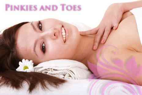 Pinkies and Toes - 60 Minute Prescriptive Dermalogica Facial with Swedish Back, Neck and Shoulder Massage - Save 61%