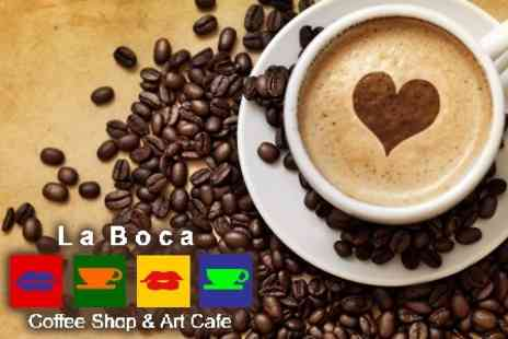 La Boca Coffee Shop & Art Cafe - Ten Hot Drinks - Save 67%
