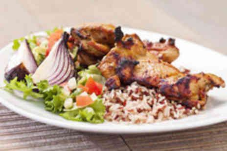 SAFFRAN - Fusion meal for 2 with a glass of wine each - Save 66%