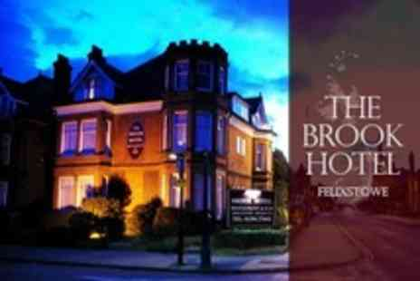 The Brook Hotel - One Night Stay For Two With Three Course Dinner and Wine - Save 46%
