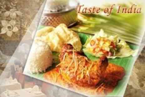 Taste of India - Two Course Indian Meal For Two With Sides Plus Coffee and Liqueur - Save 62%