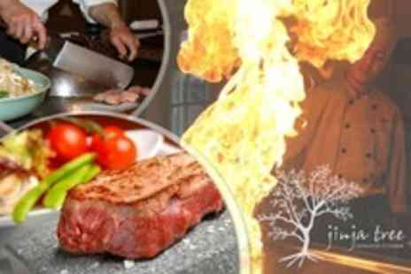 Jinja Tree - Four Course Interactive Japanese Dining Teppanyaki Meal For Two - Save 52%