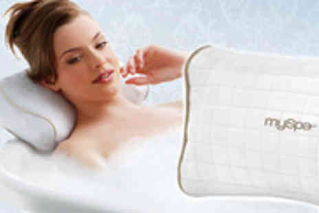 Zuvo - Super soft luxury Homedics MySpa Vibrating Bath Pillow for total relaxation whilst soaking in the tub - Save 67%