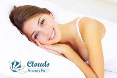 Clouds Memory Foam - Two Memory Foam Pillows - Save 76%