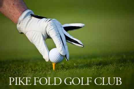 Pike Fold Golf Club - Round of Golf For Two Plus Choice of Drink and Sandwich - Save 62%