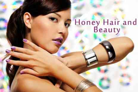 Honey Hair and Beauty - One Hour Shellac Manicure and Pedicure - Save 60%