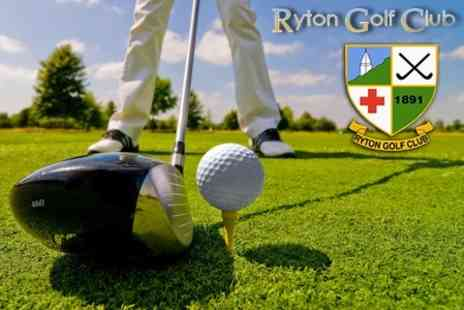 Ryton Golf Club - Full Day of Golf on 18 Hole Course For Two - Save 66%
