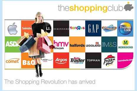 The Shopping Club - One year membership to The Shopping Club - Save 67%