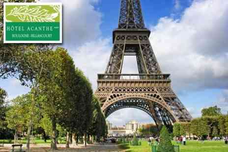Hotel Acanthe - One Night Parisian Weekend For Two With Breakfast - Save 64%