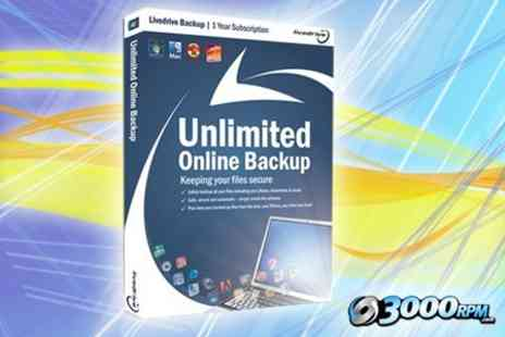 3000 RPM - One Year Livedrive Backup Cloud Storage for Home Computers - Save 50%
