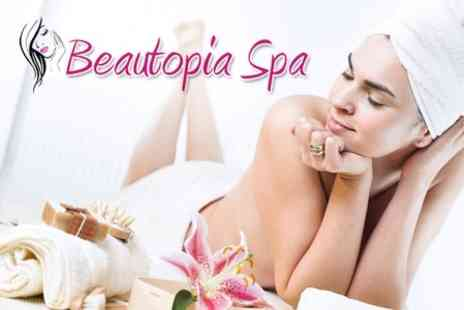 Beautopia Spa - Choice of Two Treatments Including Hot Stone Massage, Seaweed Body Wrap, Facials and Body Scrubs - Save 69%