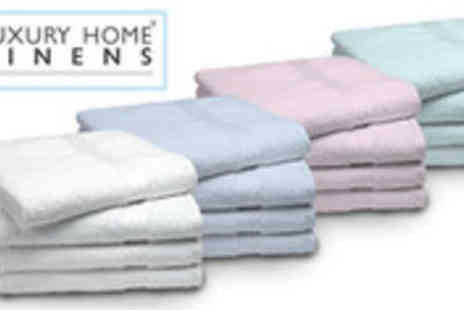 Luxury Home Linens - Four Egyptian cotton bath sheets in a choice of colours - Save 58%