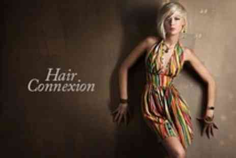Hair Connexion - Half Head Highlights or Full Head Colour With Restyle Cut and Blow Dry - Save 61%