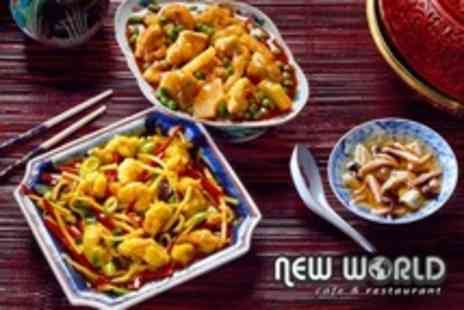 New World Cafe - Two Course Chinese Meal With Wine For Two - Save 62%
