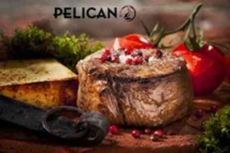 The Pelican Cafe  - Two Steak or Seafood Course Meal For Two With Prosecco - Save 53%
