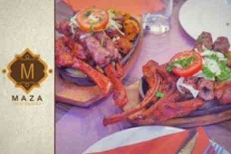 Maza Desi Eatery - Starters, Sizzling Mixed Grill Platter and Sides For Two - Save 24%