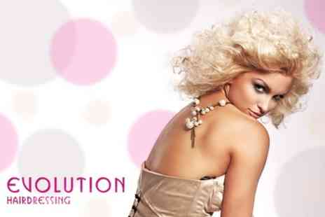 Evolution Hairdressing - T Section of Highlights or Full Head Tint Plus Restyle, Conditioning Treatment - Save 60%