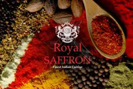 The Royal Saffron - Two Course Indian Meal For Two With Glass of Wine and Rice Side Dish Each - Save 60%