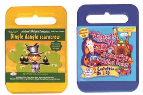 Kids Music Shop - Any four Kidzcase music CDs, including delivery - Save 52%