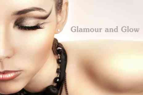 Glamour and Glow - Mac & Bobbi Brown Full Make Up With Full Set of Strip Lashes - Save 64%
