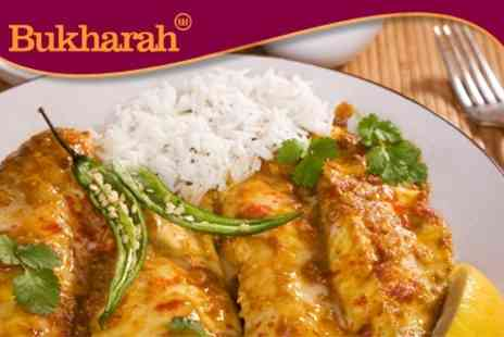 Bukharah Restaurant - Two Course Indian Meal For Two with Glass of Wine - Save 63%
