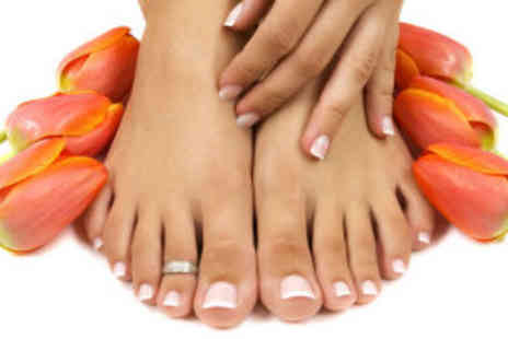 Platinum Hair & Beauty - Manicure and pedicure with polish - Save 78%