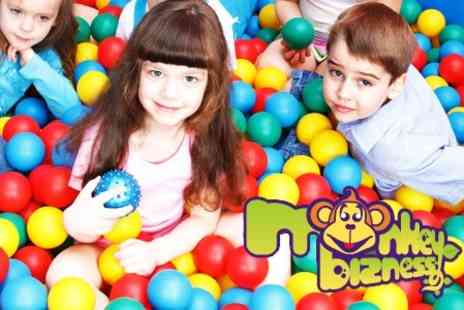Monkey Bizness - Family Entry to Indoor Play Area, With Full Use of Facilities and Meal Each for £15 - Save 61%