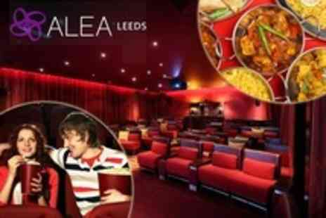 Alea Leeds - Cinema Screening With Popcorn and Wine, Plus Indian Street Food Starter Platter For Two - Save 25%