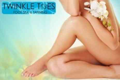 Twinkle Toes Foot Spa and Tanning - Waxing for Bikini Line and Two Additional Areas - Save 60%