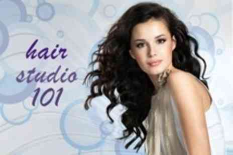 Hair Studio 101 - Restyle Cut and Finish With Head Massage - Save 50%