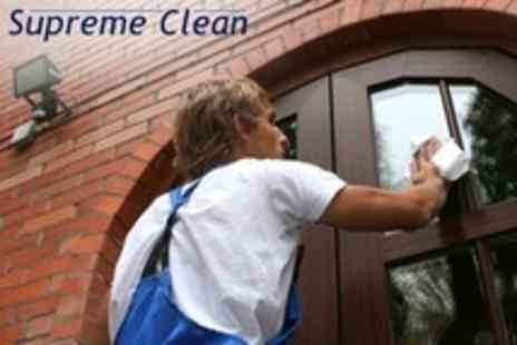 Supreme Clean - Window and Gutter Clean For Up To Three Bedroom Semi Detached House - Save 76%