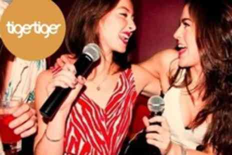 Tiger Tiger - Private Karaoke Pod Hire For Up to Eight People - Save 60%