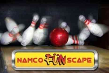 Namco FunScape - Two Games of Bowling Plus Arcade Tokens For Up to Six People - Save 76%