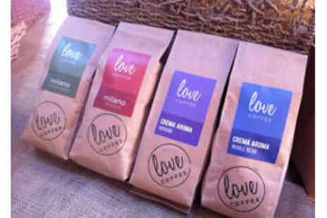 Love Coffee - 2 bags of ethical fairtrade coffee & brew guide for £15 (RRP £29) - Save 48%