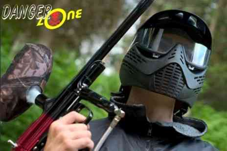 The Dangerzone - Paintballing With Lunch For Up To Ten - Save 92%