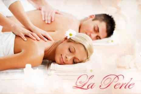 La Perle Clinic - Full Body Massage for Two with a Choice of Hot Stone or Swedish, Plus a Head Massage Each - Save 64%