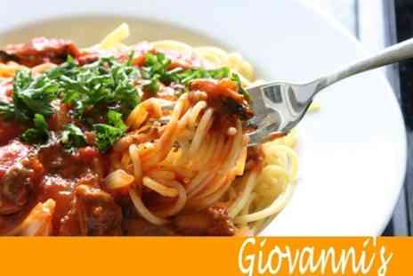 Giovannis - Two Course Italian Meal For Two With Sides, Wine and Coffee - Save 60%