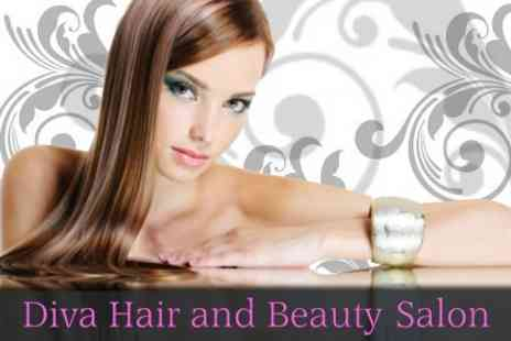 Diva Hair and Beauty Salon - Full Head of Foils Plus Cut and Blow Dry - Save 61%