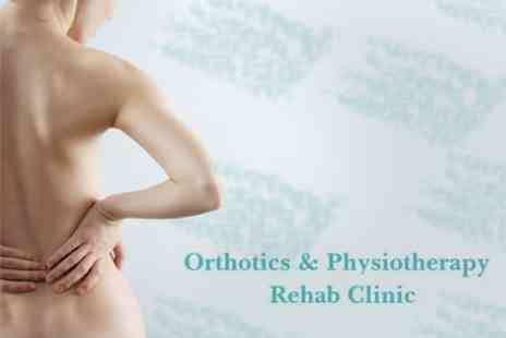 Orthotics & Physio Rehab Clinic - Sports or Full Body Massage Plus Ultrasound Spine and Joint Assessment - Save 67%