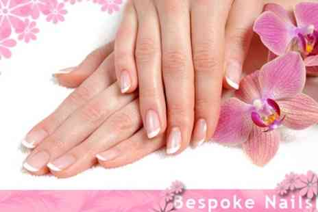 Bespoke Nails - Gel or Acrylic Nail Extensions With French or Single Colour - Save 70%