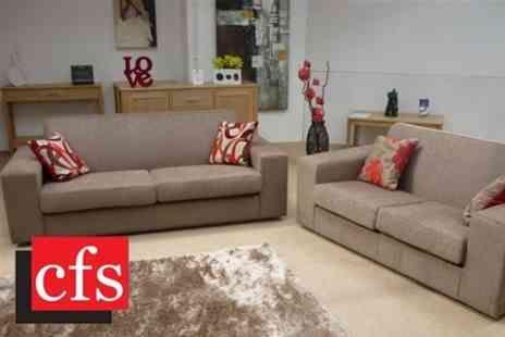 CFS Furniture - Both a Two and Three Seater Manhattan Sofa - Save 83%