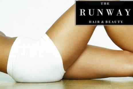 The Runway - Two Waxing Treatments plus Hair Vouchers - Save 86%